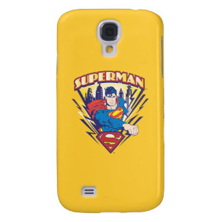 Superman with Electricity Galaxy S4 Case