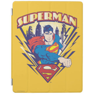Superman with Electricity iPad Cover