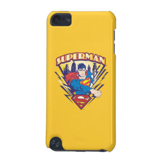 Superman with Electricity iPod Touch (5th Generation) Cases