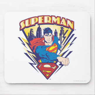 Superman with Electricity Mouse Pad