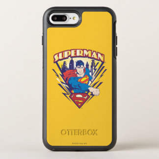Superman with Electricity OtterBox Symmetry iPhone 7 Plus Case