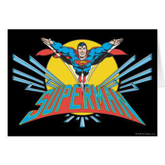 Superman with Letters Card