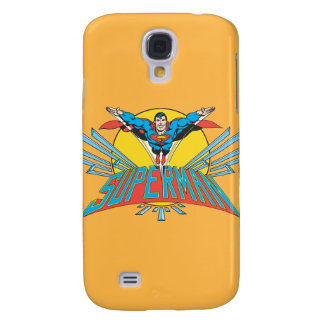 Superman with Letters Galaxy S4 Case