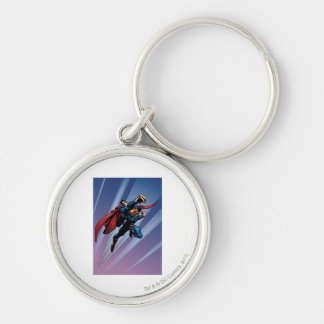 Superman with light streaks key ring