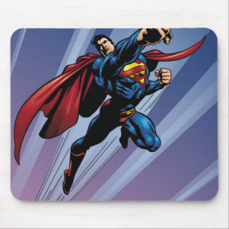 Superman with light streaks mouse mat