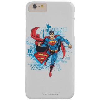 Superman with Logo 2 Barely There iPhone 6 Plus Case