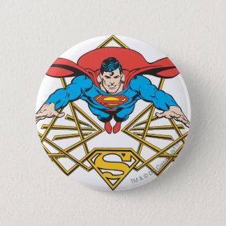 Superman with Logo 6 Cm Round Badge