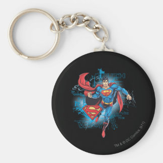 Superman with Logo Key Ring