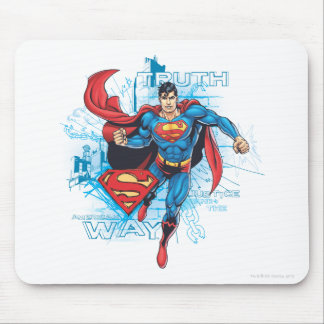 Superman with Logo Mouse Pad