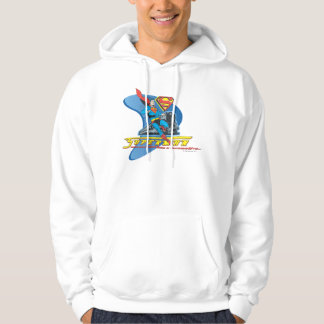 Superman with train - Color Hoodie