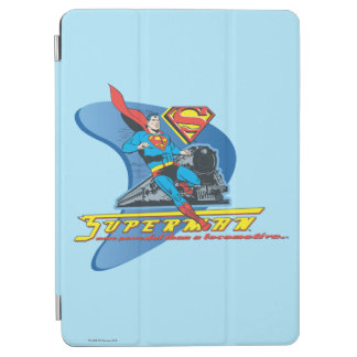 Superman with train - Color iPad Air Cover