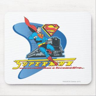 Superman with train - Color Mouse Mat