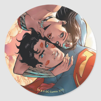 Superman/Wonder Woman Comic Cover #11 Variant Classic Round Sticker