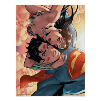 Superman/Wonder Woman Comic Cover #11 Variant Poster