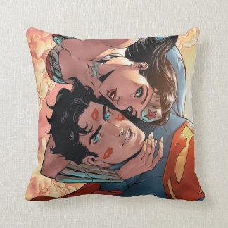 Superman/Wonder Woman Comic Cover #11 Variant Throw Pillow