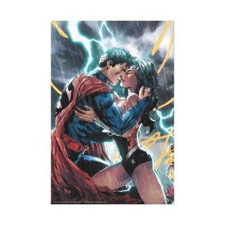 Superman/Wonder Woman Comic Promotional Art Canvas Print