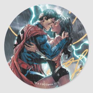Superman/Wonder Woman Comic Promotional Art Classic Round Sticker
