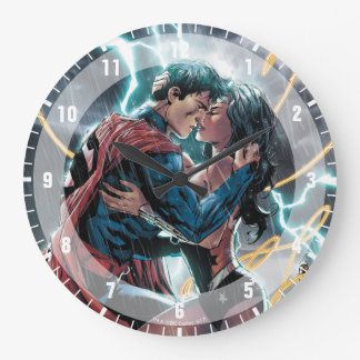 Superman/Wonder Woman Comic Promotional Art Large Clock
