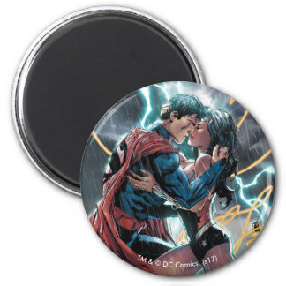 Superman/Wonder Woman Comic Promotional Art Magnet