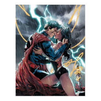 Superman/Wonder Woman Comic Promotional Art Postcard