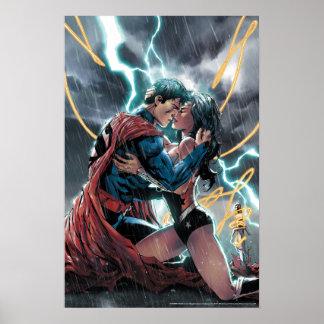 Superman/Wonder Woman Comic Promotional Art Poster