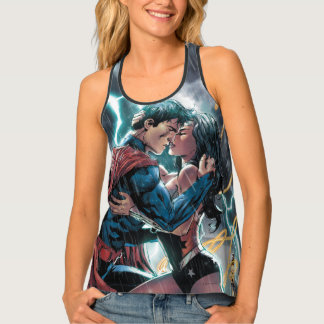 Superman/Wonder Woman Comic Promotional Art Tank Top