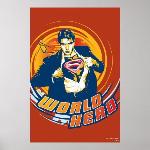 Superman World Hero Poster