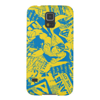 Superman Yellow and Blue Galaxy S5 Cover