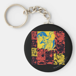 Superman Yellow and Red Key Ring