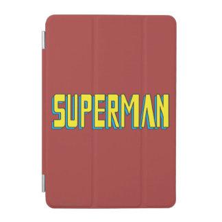 Superman | Yellow Blue Letters Logo iPad Mini Cover