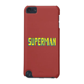 Superman | Yellow Blue Letters Logo iPod Touch 5G Covers