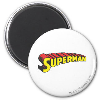 Superman   Yellow Red Letters Logo Magnet