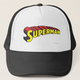 Superman | Yellow Red Letters Logo Trucker Hat