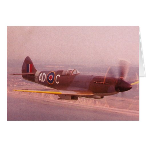 Supermarine Spitfire Airplane Greeting Cards