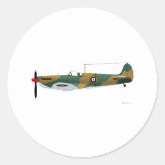 Supermarine Spitfire Classic Round Sticker