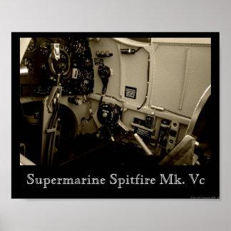 Supermarine Spitfire Cockpit Print