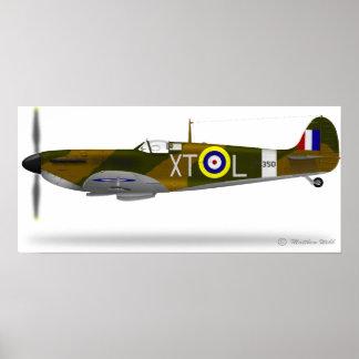 Supermarine Spitfire - Customized Poster