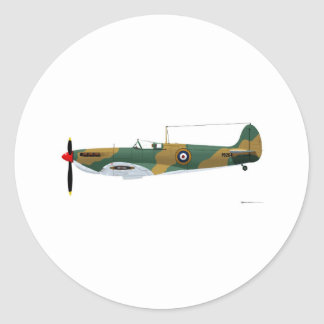 Supermarine Spitfire Round Sticker