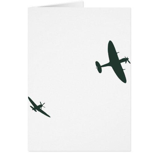 Supermarine Spitfires Greeting Card
