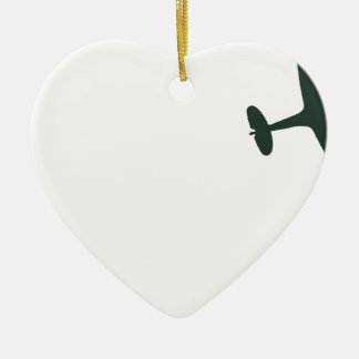 Supermarine Spitfires Ceramic Heart Decoration