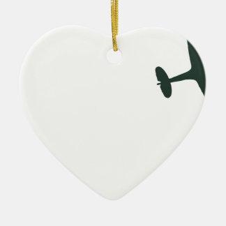 Supermarine Spitfires Ceramic Heart Decoration
