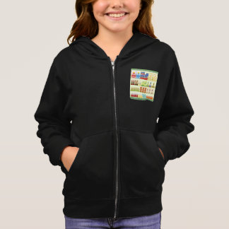 Supermarket Goods Shelf Girls Hoodie