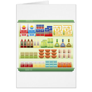 Supermarket Goods Shelf Greeting Cards