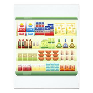 "Supermarket Goods Shelf Invitations 4.25"" X 5.5"" Invitation Card"