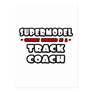 Supermodel .. Track Coach Postcard