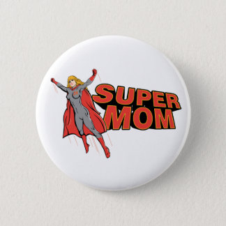 Supermom 6 Cm Round Badge