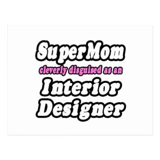 SuperMom...Interior Designer Postcard