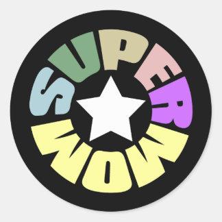 SuperMom: My mother is my super hero Round Sticker