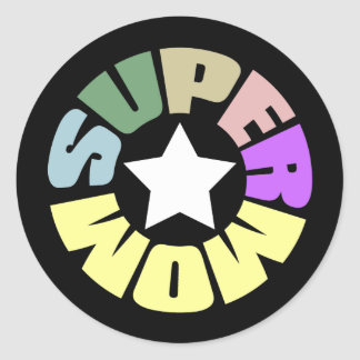 SuperMom My mother is my super hero Round Stickers