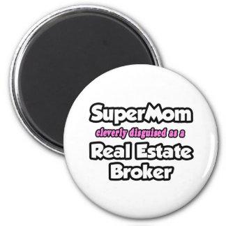 SuperMom Real Estate Broker Fridge Magnets